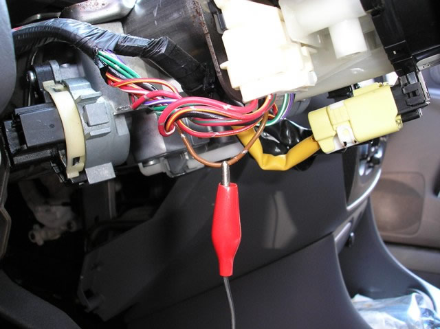 bulldog security diagrams this is a picture of the brown parking light wire marked the red clip at the headlight switch on the steering column of this vehicle